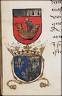 Coats of arms of Nantes and of Anne of Brittany (Bretagne)