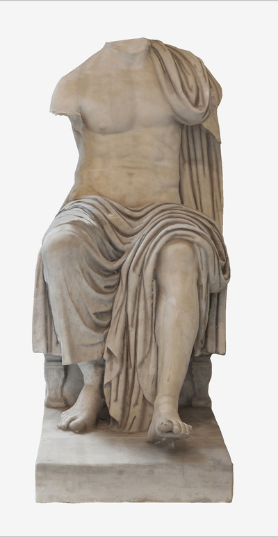 3D model of statue of seated Claudio