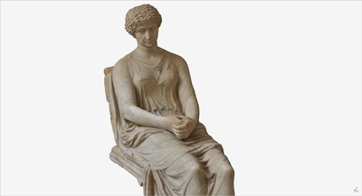 3D model of statue of seated Agrippina
