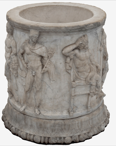3D model of Puteale with goddesses