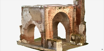 Video of 3D model of the Quadrifrontal Arch of the Augusteum at Herculaneum