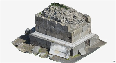 3D model of Tomb with funerary Urns (Pompeii Porta Ercolano)