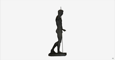 Images of 3D model of statue of heroic Claudio