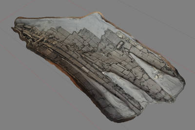 Images of 3D model of Planking of the Boat at Herculaneum