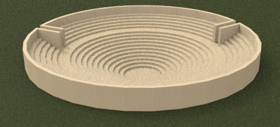 Images of 3D model of Circular Building at Paestum (first reconstruction hypothesis)