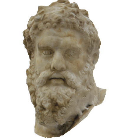 Images of 3D model of Head of statue of Ercole Farnese