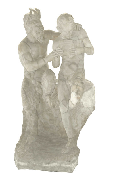 Images of 3D model of statue of Pan and Dafni