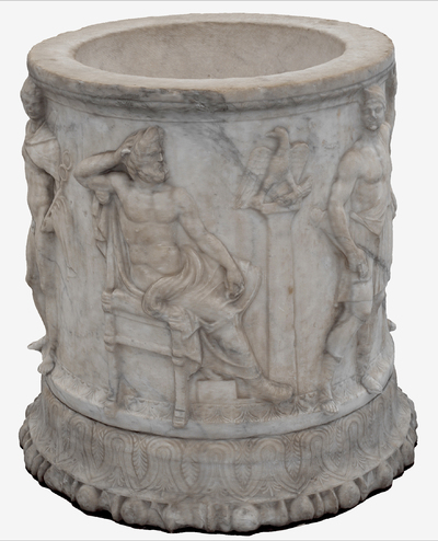 Images of 3D model of Puteale with goddesses