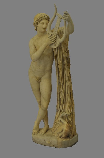 Images of 3D model of statue of Apollo Pothos