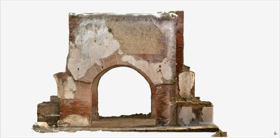 Images of 3D model of Quadrifrontal Arch of Augusteum of Hercolaneum