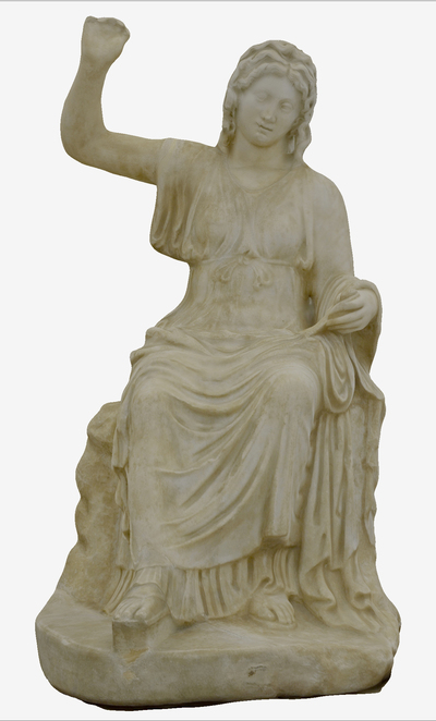 Images of 3D model of statue of Musa