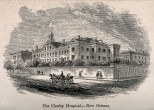 Charity Hospital, New Orleans, Louisiana. Wood engraving.
