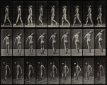 A man bearing load on shoulder. Photogravure after Eadweard