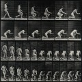 A woman kneeling down to pray. Photogravure after Eadweard M