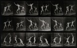 Two men fencing. Photogravure after Eadweard Muybridge, 1887