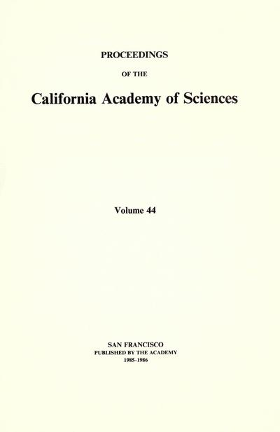 Proc. Calif. Acad. Sci. (1907)
