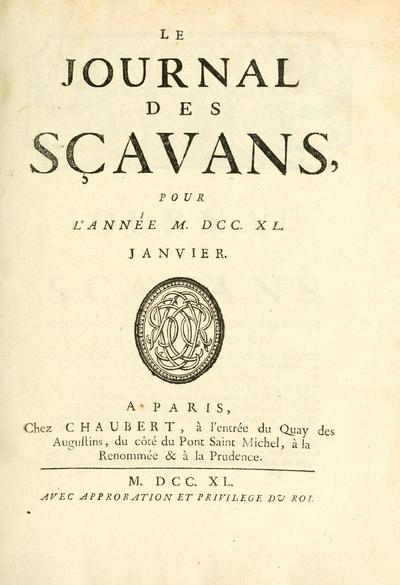 Iournal des sçavans (Paris, France)