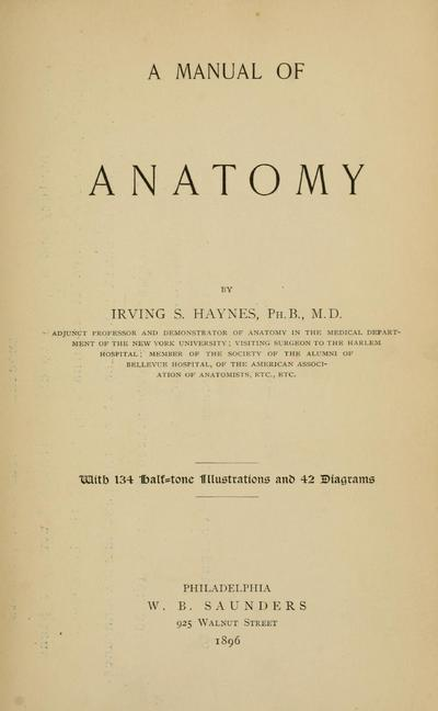 A manual of anatomy.
