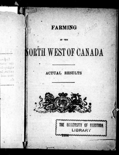 Farming in the north west of Canada actual results.