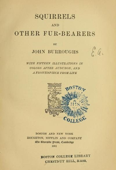 Squirrels and other fur-bearers,