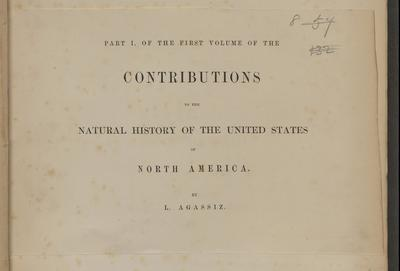 Contributions to the natural history of the United States of North America.