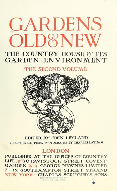 Gardens, old and new; the country house & its garden environment.