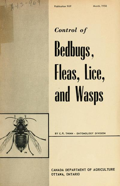 Control of bedbugs, fleas, lice and wasps