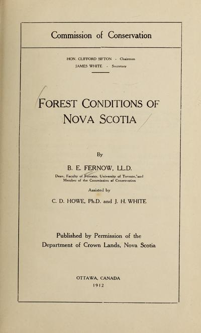 Forest conditions of Nova Scotia /