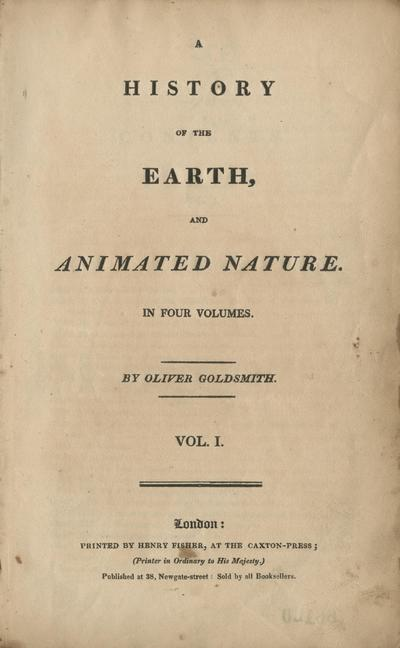 A history of the earth, and animated nature /