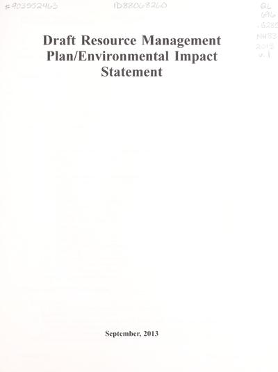 Draft resource management plan/environmental impact statement
