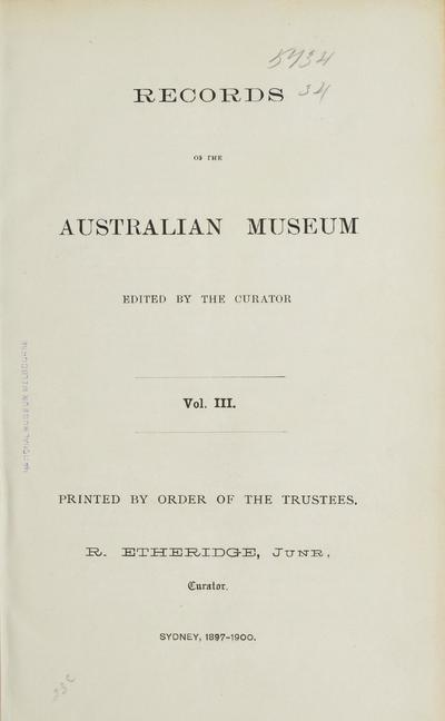 Records of the Australian Museum.