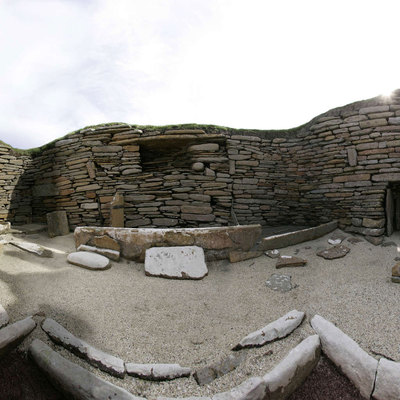 Panorama Movie of House 1, Skara Brae