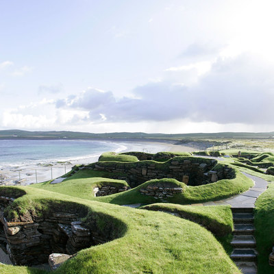 Panoramic Photography of link path 8, Skara Brae