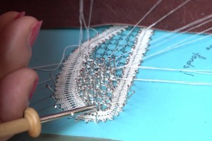 Lacemaking - pulling