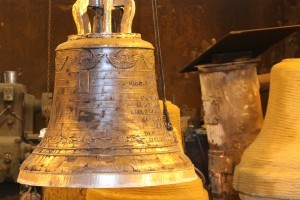 Bell foundry - first trial of the bell