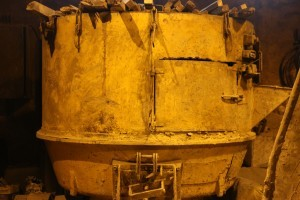 Bell foundry - clay mixing