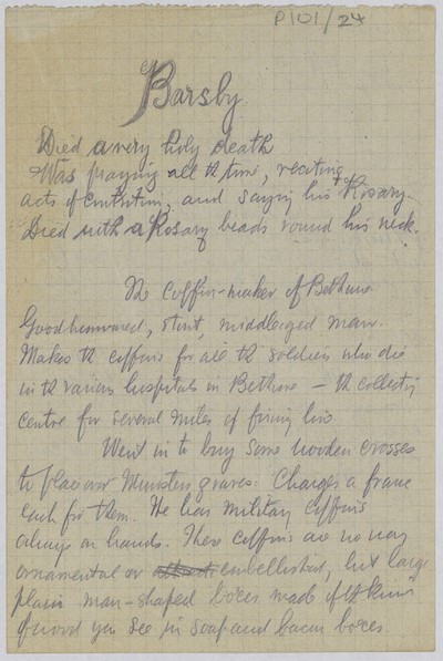 Page from a diary of Fr. Francis A. Gleeson