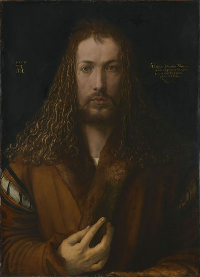 Self-Portrait with Fur-Trimmed Robe